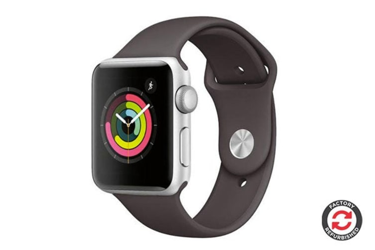 Apple Watch Series 2 Refurbished (Silver, Stainless Steel, 42mm, Sports Black) - AB Grade