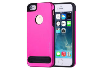 For iPhone SE 5S 5 Case Stylish Trendy High-Quality Metal TPU Cover Magenta
