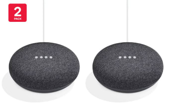 Google Home Mini (Charcoal) - Australian Model - 2 Pack