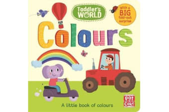 Toddler's World: Colours - A little board book of colours with a fold-out surprise