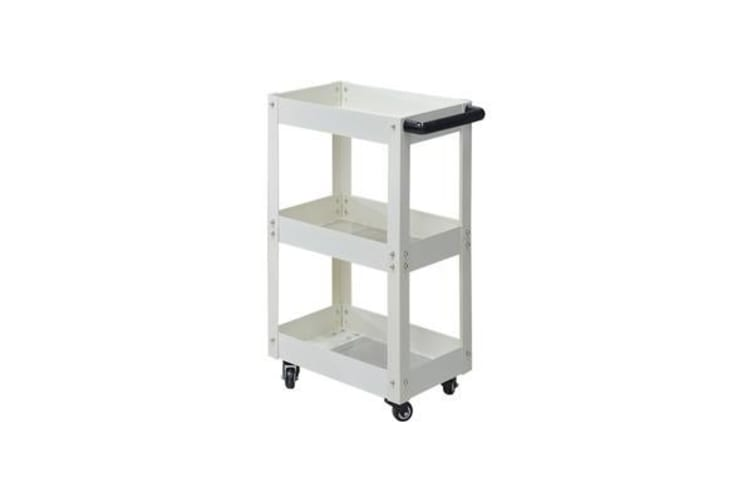 3 Tier Tool Cart Parts Steel Trolley White