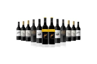 Australian Red Mixed Dozen Featuring Yellow Tail Shiraz (12 Bottles)