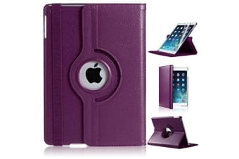 360 Rotate Leather Case Cover Apple iPad Air 2-Purple