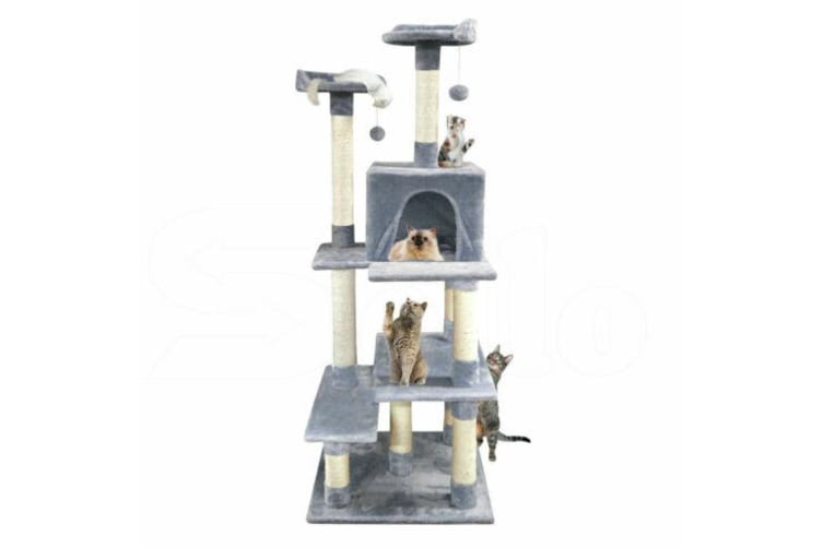 PaWz 1.7M Cat Scratching Post Tree Gym House Condo Furniture Scratcher Tower  -  Beige