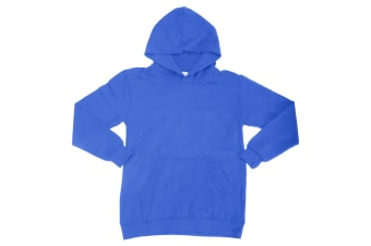 SG Kids Unisex Plain Hooded Sweatshirt Top / Hoodie (Royal) (11-12)