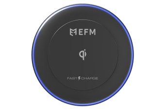 EFM 10W Wireless QI Fast Charger/Charging Pad for iPhone X/Samsung S8/S7 Black