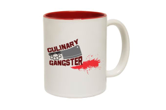 123T Funny Mugs - Culinary Gangster - Red Coffee Cup