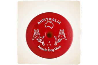 Aussie Dog Disc Hard Red