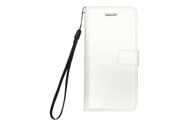 For iPhone 8 7 Wallet Case Stylish Luxury Durable Protective Leather Cover White