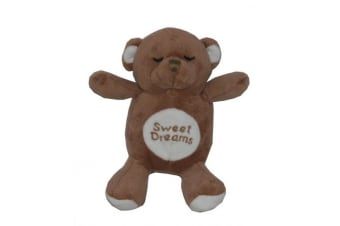 Hip Doggie Snoring Bear Toy For Dogs (Brown) (15cm)