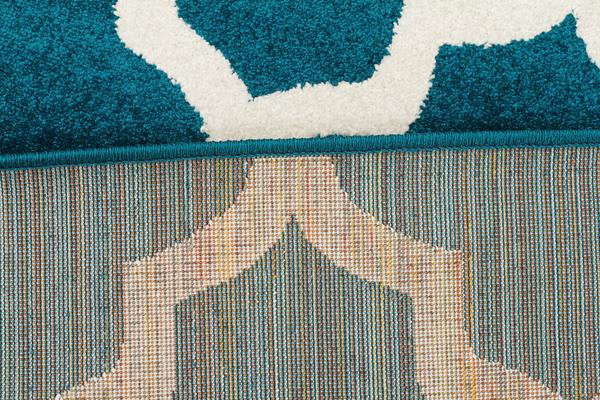Indoor Outdoor Morocco Rug Peacock Blue 290x200cm