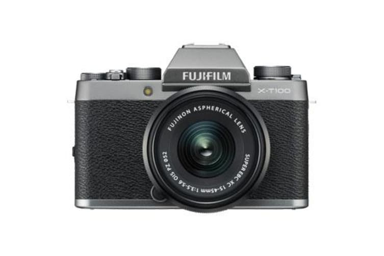 New Fujifilm X-T100 Mirrorless 24MP (15-45mm) Digital Camera Dark Silver (FREE DELIVERY + 1 YEAR AU WARRANTY)