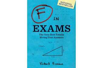 F In Exams – Paperback Book Funny School Student Mistakes Test Answers Laugh Teacher