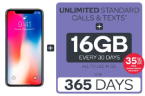 iPhone X (64GB) & Kogan Mobile Prepaid Voucher Code BUNDLE: LARGE (365 Days | 16GB | Space Grey)