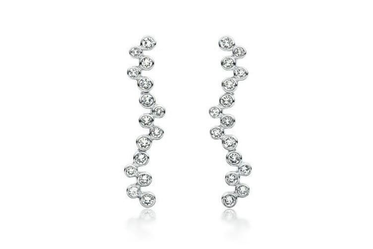 Fluid Dangle Earrings Embellished with Crystals from Swarovski