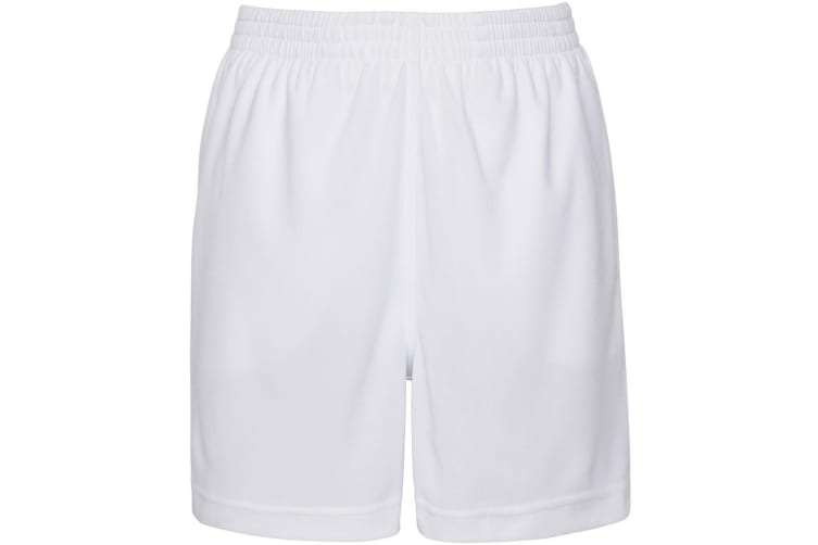 AWDis Just Cool Childrens/Kids Sport Shorts (Arctic White) (7-8 Years)