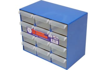 Fischer Plastic 12 Drawer Storage Cabinet