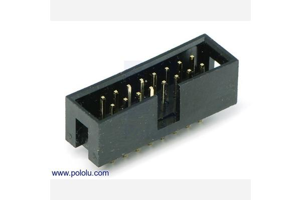"Shrouded Box Header: 2x8-Pin, 0.100"" (2.54 mm) Male"