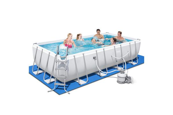 Bestway Rectangle Frame Power Steel Above Ground Swimming Pool ...