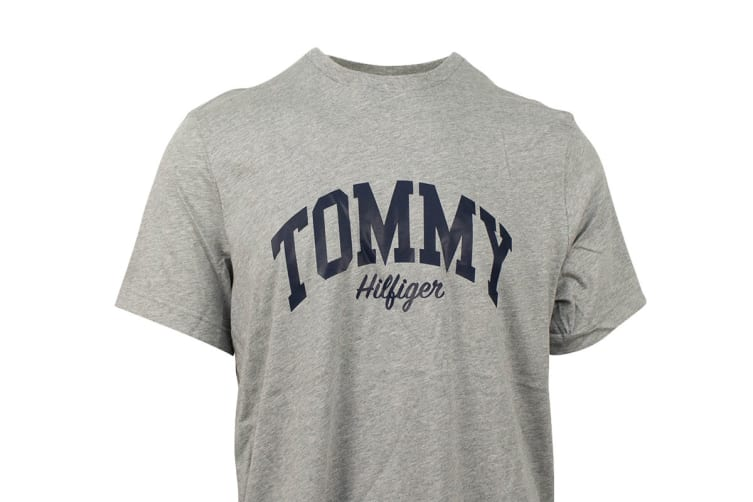 Tommy Hilfiger Men's Graphic Tee (Grey Heather, Size L)