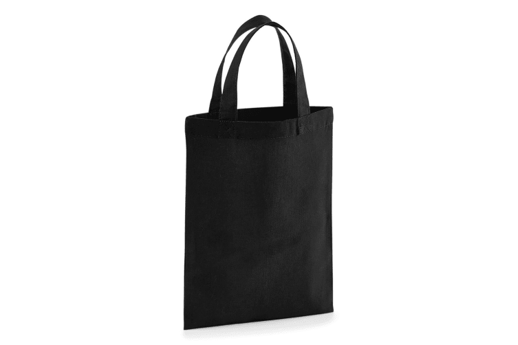 Westford Mill Cotton Party Bag For Life (Black) (One Size)