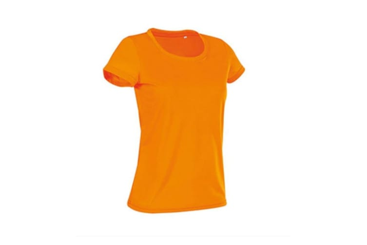 Stedman Womens/Ladies Active Cotton Touch Tee (Cyber Orange) (M)