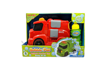 Bubble Fun Bump N' Go Bubble Fire Truck