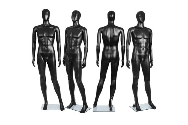 Full Body Male Mannequin Cloth Display Tailor Dressmaker (Black) 186cm