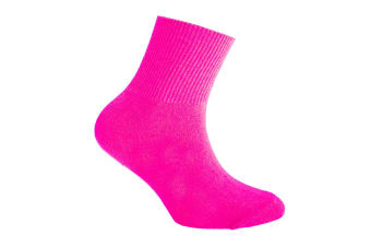 Silky Childrens Boys/Girls Dance Socks In Neon Colours (1 Pair) (Pink)