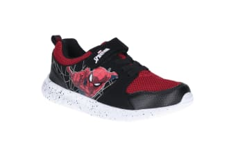 Spider-Man Childrens/Kids Web Touch Fasten Trainer (Black/Red) (11.5 Child UK)