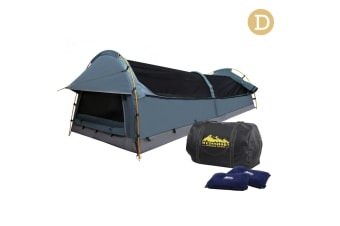 Double Camping Swag Tent with Air Pillow(Navy)