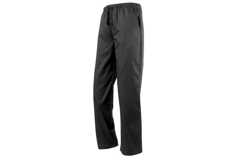 Premier Essential Unisex Chefs Trouser / Catering Workwear (Pack of 2) (Black) (S)