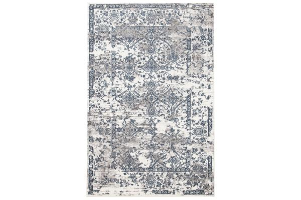 Yasmin Distressed Transitional Rug White Blue Grey 330X240cm