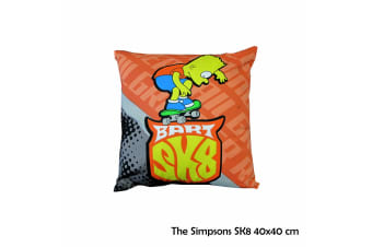 The Simpsons SK8 40x40 cm Square Cushion by Caprice by Caprice