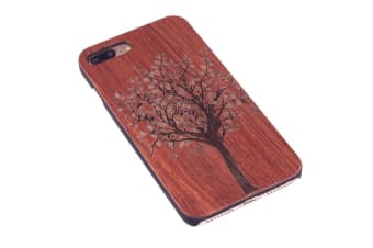 For iPhone 8 PLUS 7 PLUS Case Rosewood Tree of Life Wooden Protective Cover