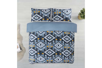 Dreamaker Printed Microfibre Quilt Cover Set Single Bed Damacus