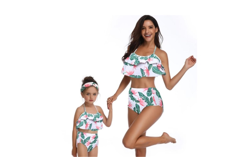 High Waisted Bathing Suit Mommy And Daughter Swimwear Bikini Sets - 7 140