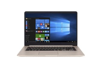 "ASUS Vivobook S510UF-BQ371T Slim Light Entertainment Ultrabook in Gold Metal Colour 15.6"" 1080p"