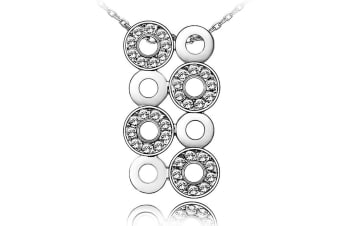 Halo Circlr Pendant With Necklace Embellished with Swarovski crystals