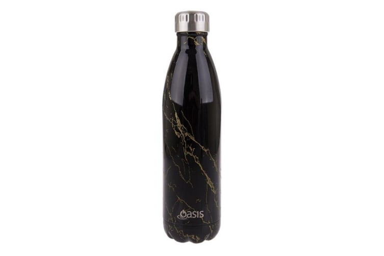 Oasis Stainless Steel Double Wall Insulated Drink Bottle 750ml Gold Onyx