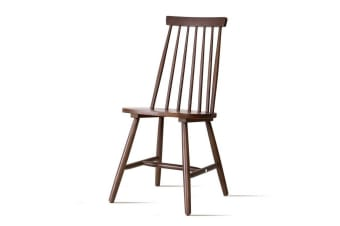 Artiss Dining Chairs Kitchen Chair Rubber Wood Retro Cafe Brown Wooden Seat x2