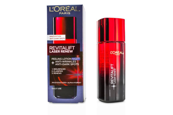 L'Oreal Revitalift Laser Renew - Anti-Wrinkles+Anti-Dark Spots Peeling Lotion Night (125ml/4.23oz)