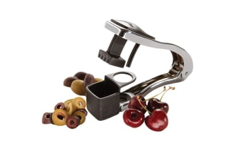Amco Cherry Olive Pit Remover Stainless Steel Pitter Kitchen Squeeze Tool Slicer