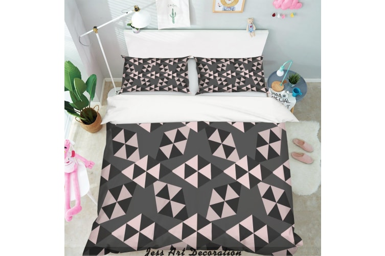 3D Color Diamond Geometry Pattern Quilt Cover Set Bedding Set Pillowcases  269-Queen