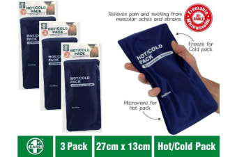 3 x Hot Cold Gel Pack Reusable Microwaveable Freezer Ice Pain Relief First Aid