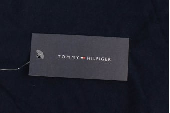 Tommy Hilfiger Men's Graphic Long Sleeve Tee (Dark Navy)