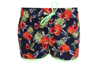Tom Franks Womens/Ladies Printed Beach Shorts Swimwear (Printed Beach)