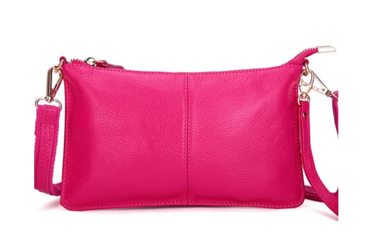 Faux Leather Vintage Small Women Crossbody Bag Clutch Purse Wristlet Rosered