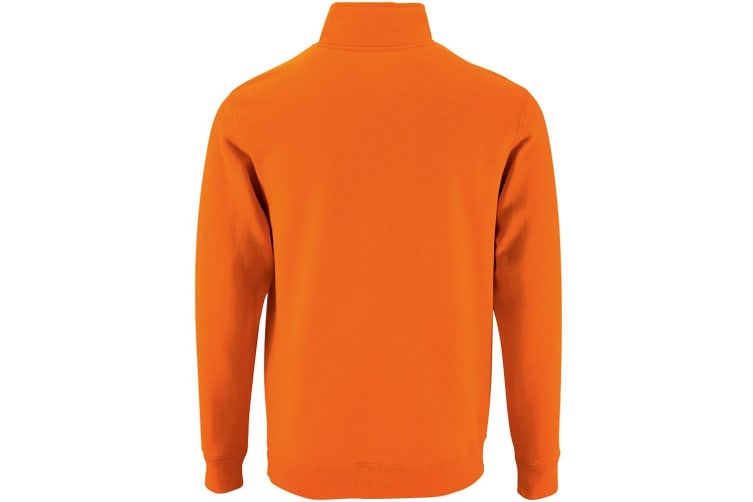SOLS Mens Stan Contrast Zip Neck Sweatshirt (Orange) (XL)