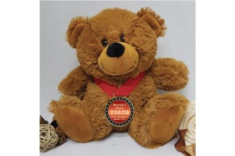 Coach Personalised Teddy Bear with Award Medal